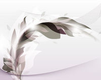Elegant abstract foliage wave elements template ba Stock Photography
