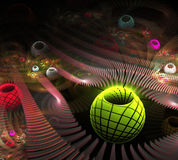 Elegant abstract fractal background Royalty Free Stock Image