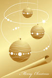 Elegant abstract gold christmas background Stock Image