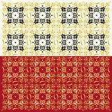 Elegant Abstract Patroon (Twee Geplaatste Kleuren) Stock Foto