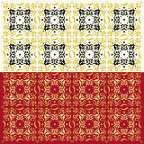 Elegant Abstract Pattern (Two Colors Set) Stock Photo