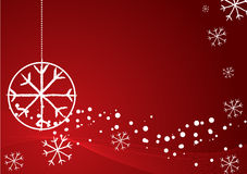 Elegant abstract red christmas background Royalty Free Stock Photos