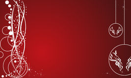 Elegant abstract red christmas background Stock Photos