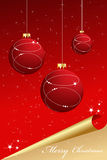 Elegant abstract red-gold christmas background Royalty Free Stock Photography