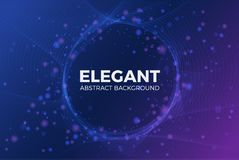 Elegant abstract shiny particle with circle space background. Ve vector illustration