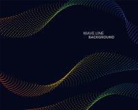 Elegant abstract vector spectrum rainbow gradient wave dot line Stock Photo