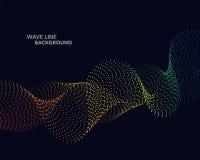 Elegant abstract vector spectrum rainbow gradient wave dot line Royalty Free Stock Photography