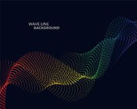 Elegant abstract vector spectrum rainbow gradient wave dot line Stock Photos