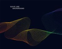 Elegant abstract vector spectrum rainbow gradient wave dot line Royalty Free Stock Photo