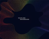 Elegant abstract vector spectrum rainbow gradient wave dot line Royalty Free Stock Images