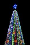 Elegant abstrakt bakgrund för festlig jul med bokehljus och stjärnor Royaltyfri Fotografi