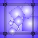 Elegant abstrakt begreppblåttbakgrund Royaltyfri Bild