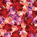 Elegant abstrakt sömlös blom- modell med rött, magentafärgat och nolla stock illustrationer