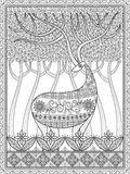 Elegant adult coloring page Royalty Free Stock Image