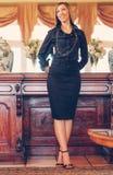 Elegant afrikansk amerikankvinna Arkivfoto