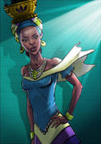 Elegant afrikansk kvinna Royaltyfria Foton