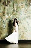elegant aftonkvinna för klänning Fotografering för Bildbyråer