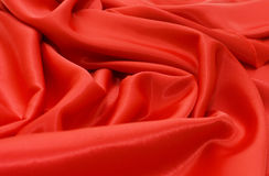 Elegant And Soft Red Satin Background Stock Images