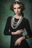 Elegant antik prinsessa royaltyfria foton