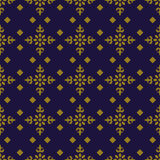 Elegant antique background image of check square cross flower pattern. royalty free illustration