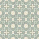 Elegant antique background image of cross chain star flower frame pattern. Stock Images