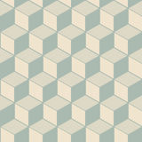 Elegant antique background image of cubic line geometry pattern. Royalty Free Stock Images