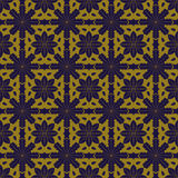 Elegant antique background image of outline flower cross kaleidoscope pattern. Royalty Free Stock Photos