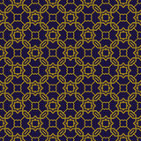 Elegant antique background image of polygon chain cross star pattern. Royalty Free Stock Photography