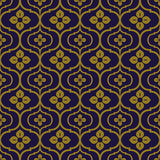Elegant antique background image of round curve flower pattern. Royalty Free Stock Photography