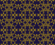 Elegant antique background image of round star curve cross flower pattern. Stock Photography