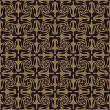 Elegant antique background image of spiral cross kaleidoscope pattern. Stock Image