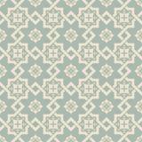 Elegant antique background image of square star cross flower pattern. Stock Photos