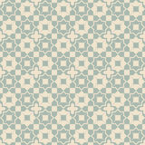 Elegant antique background image of star cross geometry square pattern. Stock Image