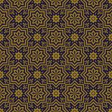 Elegant antique background image of star flower geometry pattern. Royalty Free Stock Photography