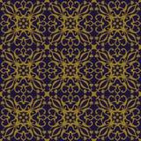 Elegant antique background image of vine spiral flower kaleidoscope pattern. Royalty Free Stock Image