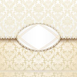 Elegant antique-style invitation Royalty Free Stock Image