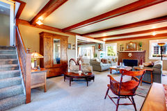 Elegant antique style living room Royalty Free Stock Images