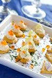 Elegant appetizers Stock Images