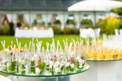 Elegant Appetizers Stock Image