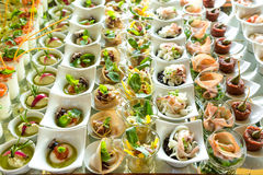 Elegant Appetizers Royalty Free Stock Images
