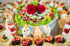 Elegant Appetizers Stock Photography