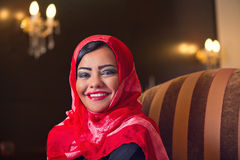 Elegant arabian lady wearing hijab in style Stock Photo