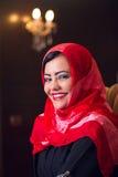 Elegant arabian lady wearing hijab in style Stock Images