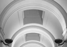 Elegant arched plaster ceiling. Elegant arched plaster relief ceiling Royalty Free Stock Photo