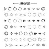 Elegant arrow set collection Stock Photography
