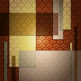 Elegant art deco Background. Elegant patterned background in warm tones. Graphics are grouped and in several layers for easy editing. The file can be scaled to vector illustration