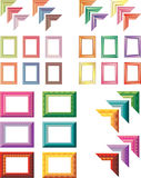 Elegant art frames. Elegant empty colorful art frames royalty free illustration