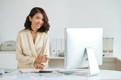 Elegant Asian woman at office Stock Photo