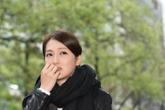 Elegant Asian woman of sadness Stock Images