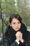 Elegant Asian woman of sadness Stock Photography